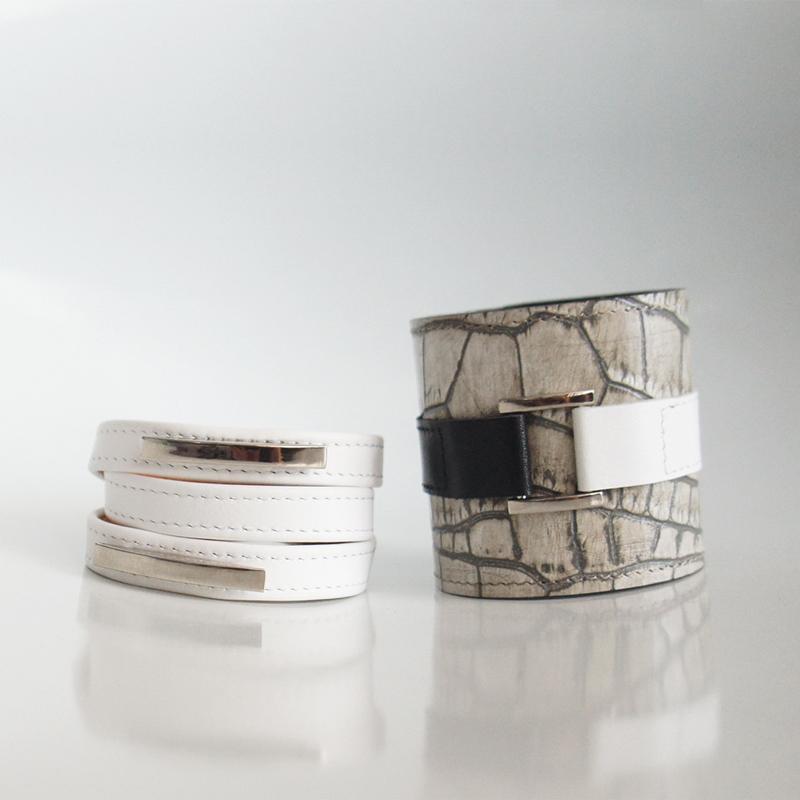 Комплект из 2-х браслетов Croco