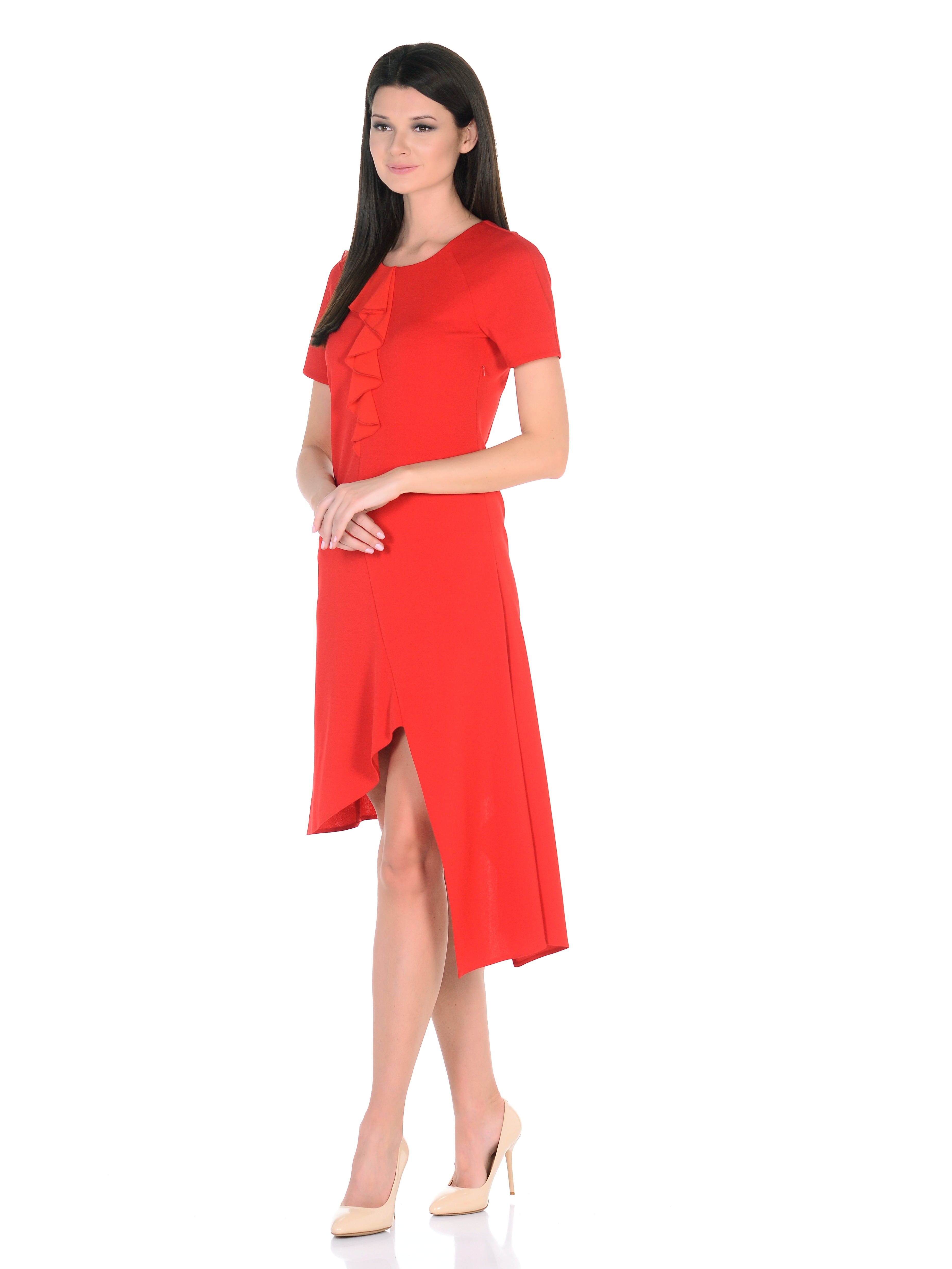 Платье Волна красная
