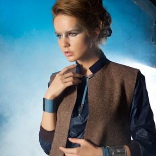Жилет- пальто из шерстяного сукна, с кожей Image 2