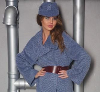 Пальто серо-голубое Image 3