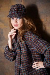 Пальто шоколадно-бирюзовое Image 3