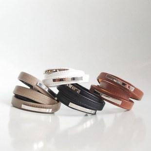 Кожаные браслеты-обмотки Metal stripes Image 0