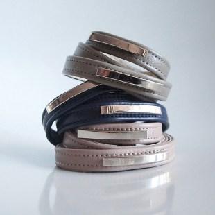 Кожаные браслеты-обмотки Metal stripes Image 1