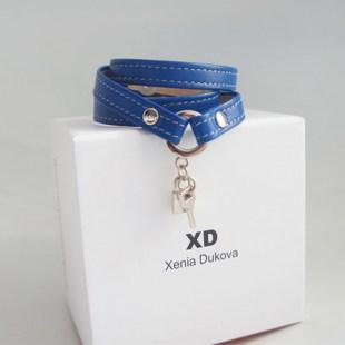 Кожаный браслет Dark blue Image 0
