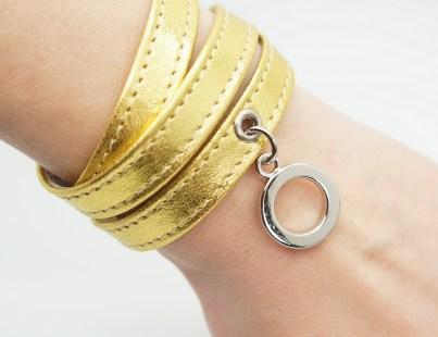 Кожаный браслет Gold Image 1