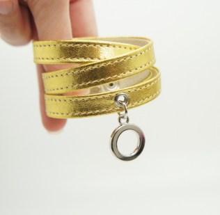 Кожаный браслет Gold Image 2