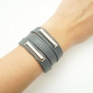 Кожаный браслет Metal accent Image 2