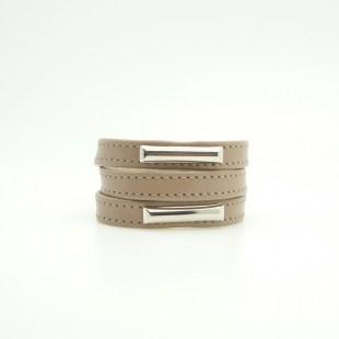 Кожаный браслет Metal accent Image 3