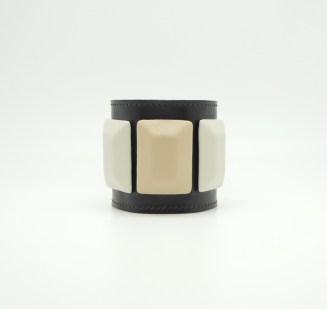 Браслет из кожи, шоколадно-кремовый Image 0
