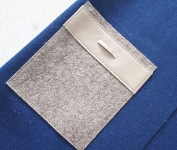 Жилет из натуральной шерсти, сине-кремовый Image 2