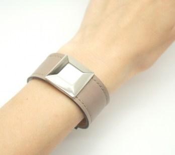 Кожаный браслет Квадрат Image 2
