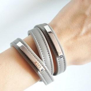 Кожаные браслеты-обмотки Metal stripes Image 2