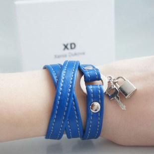 Кожаный браслет Dark blue Image 1