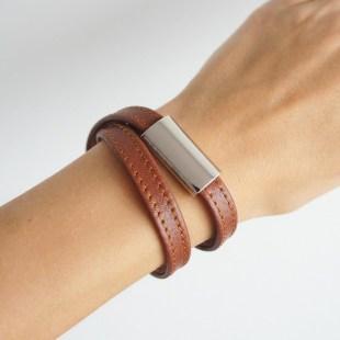 Кожаный браслет в 2 оборота Image 0