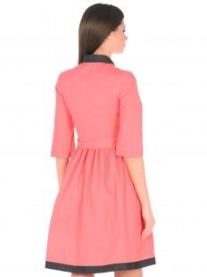 Платье Джинс коралл с отделкой Image 2