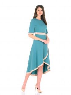 Платье ассиметрия бирюза Image 0