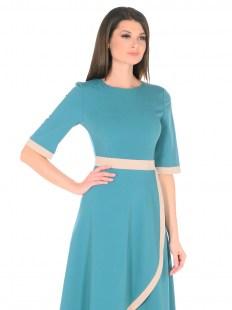 Платье ассиметрия бирюза Image 1