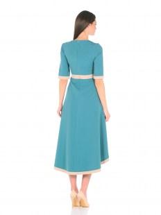 Платье ассиметрия бирюза Image 2